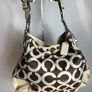 Coach  M0969-14512 canvas leather hand bag